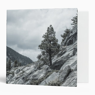 Tree Growing Out Of The Rocks 3 Ring Binder