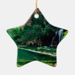 Tree Hanging Lake Glenwood Canyon Colorado Double-Sided Star Ceramic Christmas Ornament