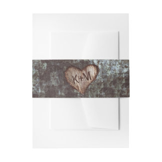 Tree Heart Rustic Wedding Invitation Belly Band