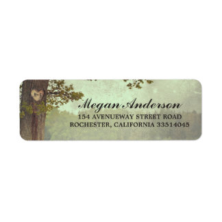 Tree Heart Rustic Wedding Label