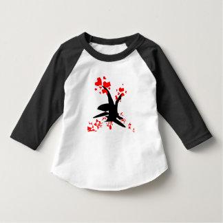 tree heart Toddler American Apparel 3/4 Sleeve Rag T-Shirt