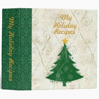 Tree Holiday Recipe Binder