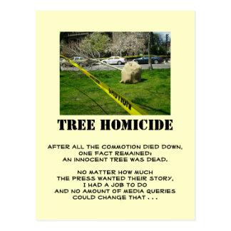 Tree Homicide (1) Postcard