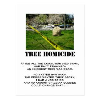 Tree Homicide (2) Postcard