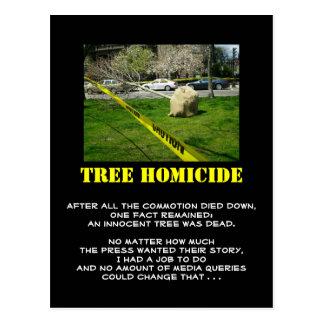 Tree Homicide (3) Postcard