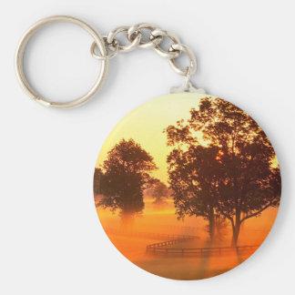 Tree Horse Farm Key Chain