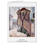 Tree House By Modigliani Amedeo Greeting Card
