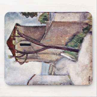 Tree House By Modigliani Amedeo Mouse Pad