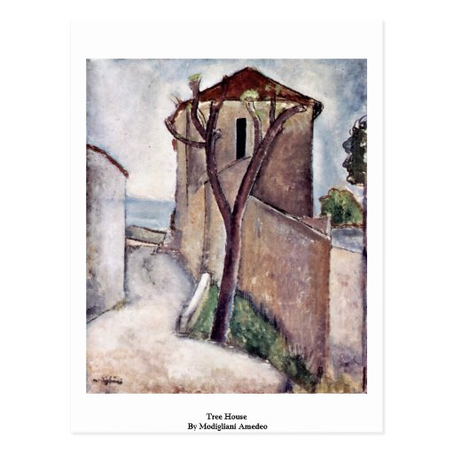 Tree House By Modigliani Amedeo Postcard