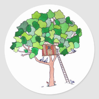 Tree House Classic Round Sticker