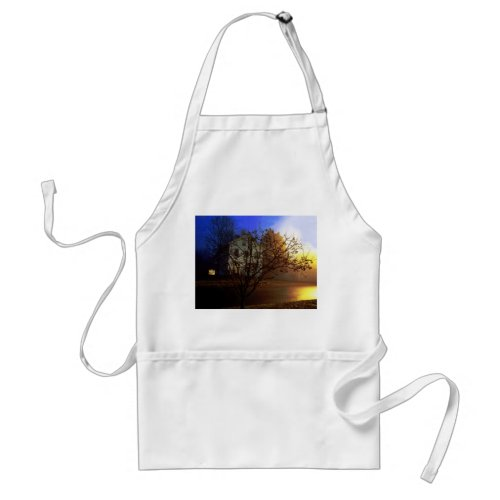 Tree House – Gold and Blue Glory Adult Apron