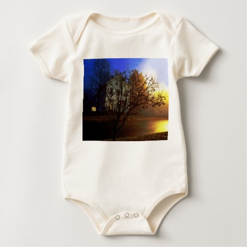 Tree House – Gold and Blue Glory Baby Bodysuit