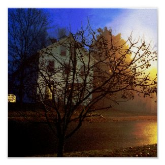 Tree House – Gold and Blue Glory print