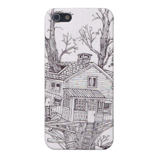 Tree house line drawing cases for iPhone 5