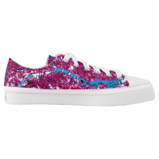 Tree House (magenta & turquoise) Low-Top Sneakers