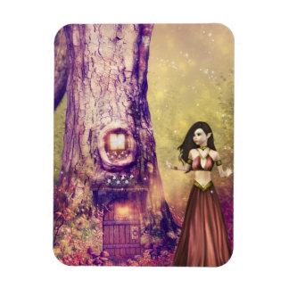 Tree house rectangular photo magnet