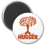 Tree Hugger 2 Inch Round Magnet