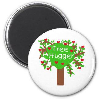 Tree Hugger 2 Inch Round Magnet
