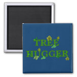 Tree Hugger 2 Inch Square Magnet