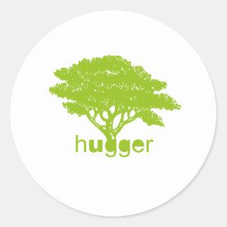 Tree Hugger bottom Classic Round Sticker