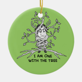 Tree Hugger Ceramic Ornament