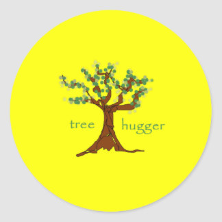 Tree Hugger Classic Round Sticker