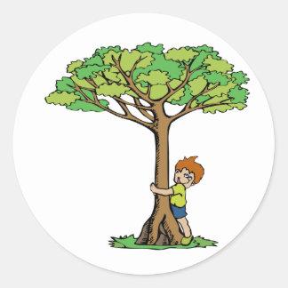 Tree Hugger Classic Round Sticker