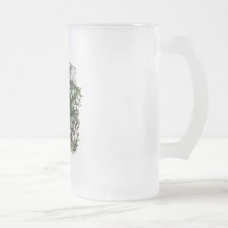 Tree Hugger Connecticut Frosted Glass Beer Mug