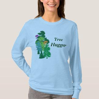 Tree Hugger Custom Green Saying Art T-Shirt