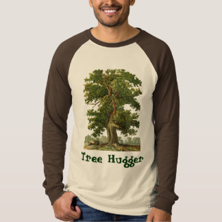Tree Hugger Custom Vintage Oak Tree Art T-Shirt