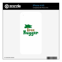 Tree Hugger Decal For iPhone 4