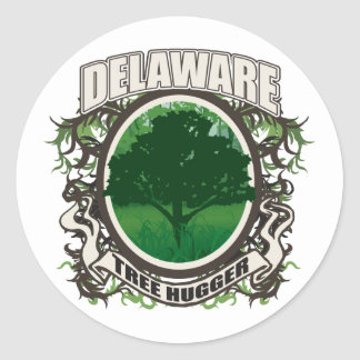 Tree Hugger Delaware Classic Round Sticker