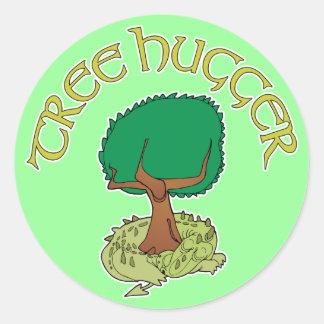 Tree Hugger Dragon Sticker
