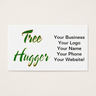 Tree Hugger Green Business Card