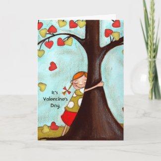 Tree Hugger - Greeting Card