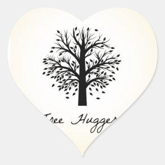Tree Hugger Heart Sticker