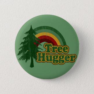 Tree Hugger Hippie Rainbow Button