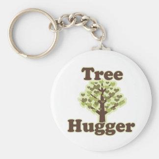 Tree Hugger Hug a Tree Basic Round Button Keychain