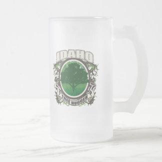 Tree Hugger Idaho Frosted Glass Beer Mug