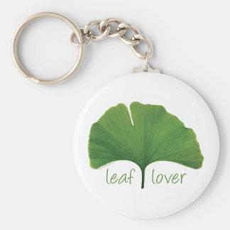 Tree Hugger, Leaf Lover - Ginkgo Basic Round Button Keychain