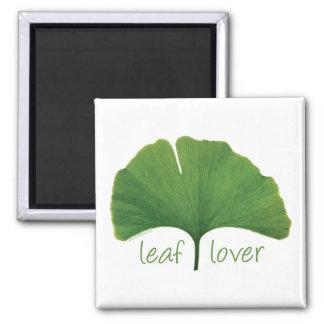 Tree Hugger Leaf Lover - Ginkgo Magnet