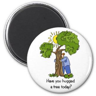Tree Hugger Fridge Magnets