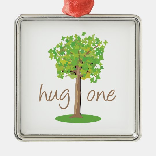 Tree Hugger Metal Ornament