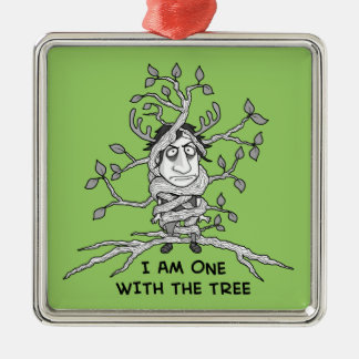 Tree Hugger Metal Ornament