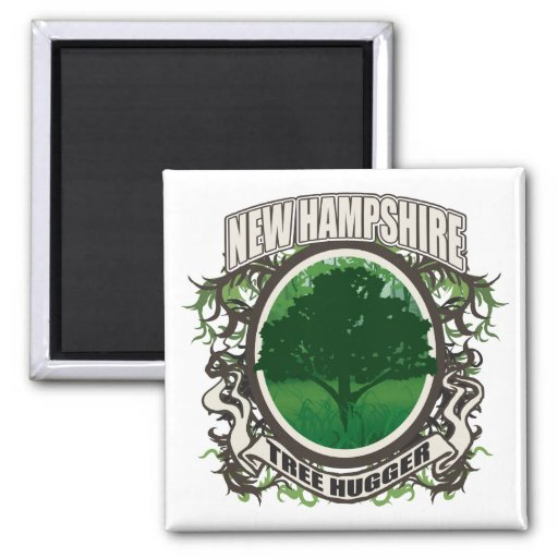 Tree Hugger New Hampshire 2 Inch Square Magnet