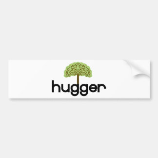 Tree hugger original design! bumper sticker