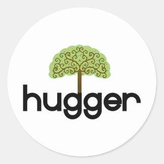Tree hugger original design! classic round sticker