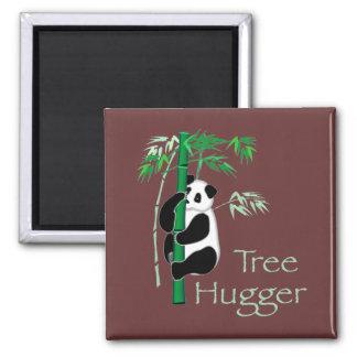 Tree Hugger Panda Refrigerator Magnet