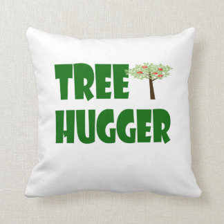 tree hugger pillow