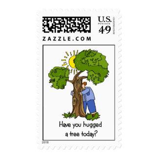 Tree Hugger Postage Stamps